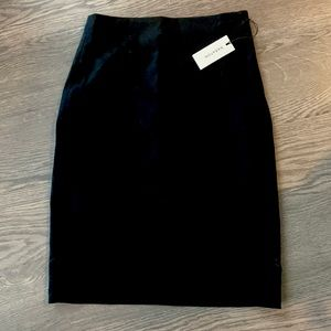 Aritzia Babaton Walt Pencil Skirt in Black Wool